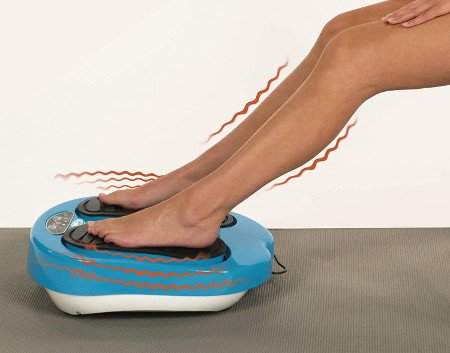 masajeador de pies azul