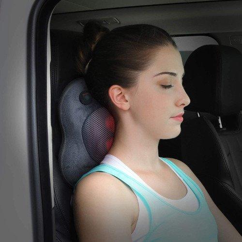 Naipo Cojín Masajeador Almohada de Masaje Shiatsu Mujer coche