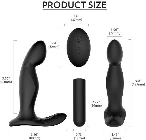 masajeador prostata HDXF medidas