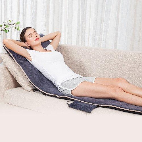 SNAILAX Colchón de masaje térmico con 10 motores vibrantes - 4 cojines de masaje terapéutico, masaje de cuerpo completo Dolores musculares relajantes SL363-ES chica sofa