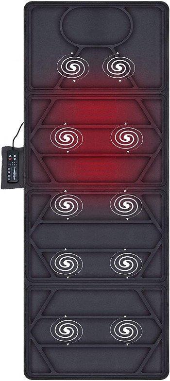 Snailax Colchón de masaje calefactado - 10 motores