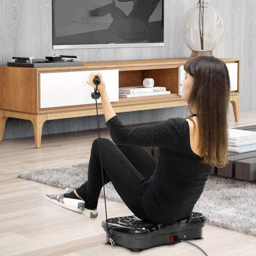 Plataforma Vibratoria, EVOLAND Máquina de Ejercicio Entrenamiento Masaje - chica sentada ejercicios
