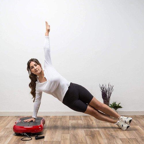 ZEN SHAPER® MINI Plataforma Fitness ultradelgada vibratoria (modelo 2021) chica ejercicio