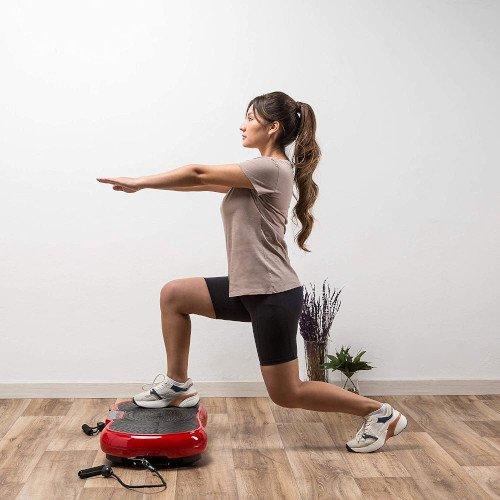 ZEN SHAPER® MINI Plataforma Fitness ultradelgada vibratoria (modelo 2021) chica sentadilla
