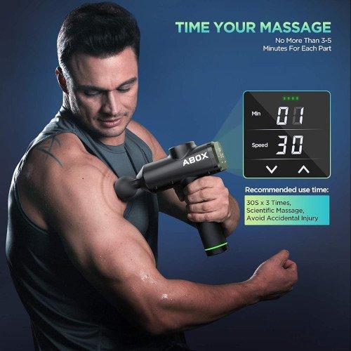 ABOX Pistola de Masaje Muscular hombre